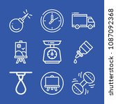 tool related set of 9 icons... | Shutterstock .eps vector #1087092368