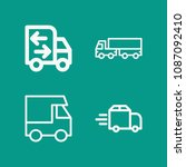 lorry related set of 4 icons...   Shutterstock .eps vector #1087092410