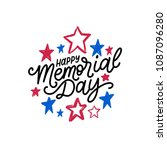 happy memorial day handwritten... | Shutterstock .eps vector #1087096280