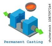 permanent casting metalwork... | Shutterstock . vector #1087097264