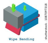 wipe bending metalwork icon.... | Shutterstock . vector #1087097318