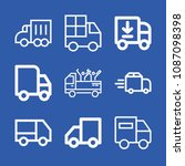 lorry related set of 9 icons...   Shutterstock .eps vector #1087098398