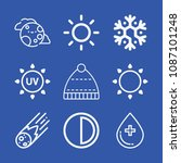 weather related set of 9 icons... | Shutterstock .eps vector #1087101248