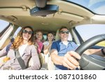 young family with children is...   Shutterstock . vector #1087101860