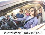 young family with children is...   Shutterstock . vector #1087101866