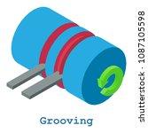 grooving metalwork icon.... | Shutterstock . vector #1087105598