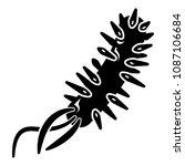 e coli bacteria icon . simple... | Shutterstock . vector #1087106684