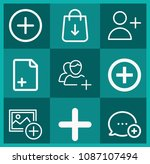 outline add icon set such as... | Shutterstock .eps vector #1087107494