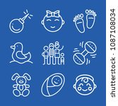baby related set of 9 icons... | Shutterstock .eps vector #1087108034