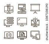 screen related set of 9 icons... | Shutterstock .eps vector #1087108190