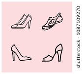 outline shoe icon set such as... | Shutterstock .eps vector #1087109270