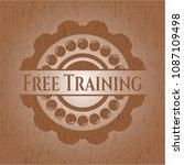 free training wood emblem....   Shutterstock .eps vector #1087109498