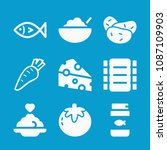 food related set of 9 icons... | Shutterstock .eps vector #1087109903