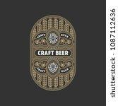 flourishes beer label design...   Shutterstock .eps vector #1087112636