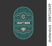 flourishes beer label design... | Shutterstock .eps vector #1087112639