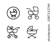 outline carriage icon set such...   Shutterstock .eps vector #1087112744
