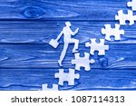 an office worker climbs the... | Shutterstock . vector #1087114313