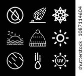 weather related set of 9 icons... | Shutterstock .eps vector #1087114604