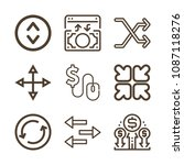 arrows related set of 9 icons... | Shutterstock .eps vector #1087118276