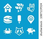 animals related set of 9 icons... | Shutterstock .eps vector #1087119524