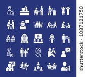 filled people icon set such as... | Shutterstock .eps vector #1087121750