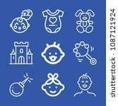 baby related set of 9 icons... | Shutterstock .eps vector #1087121924