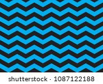 blue and black chevron pattern | Shutterstock .eps vector #1087122188