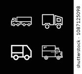 lorry related set of 4 icons...   Shutterstock .eps vector #1087125098