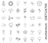 seed icons set. outline style...   Shutterstock . vector #1087126700