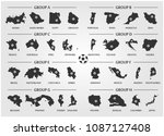football or soccer cup team... | Shutterstock .eps vector #1087127408