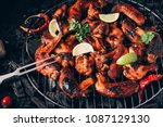 Chicken Wings Of Barbecue In...
