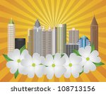 atlanta georgia city skyline ... | Shutterstock .eps vector #108713156