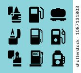 filled fuel icon set such as... | Shutterstock .eps vector #1087131803