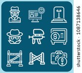 security related set of 9 icons ... | Shutterstock .eps vector #1087138646