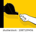 pulling queue number from... | Shutterstock .eps vector #1087139456