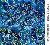 floral seamless fairy pattern.... | Shutterstock . vector #1087141526