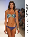 Small photo of MIAMI - JULY 22: Model walks runway at the LSpace by Monia Wise Swim Collection for Spring/ Summer 2013 during Mercedes-Benz Swim Fashion Week on July 22, 2012 in Miami, FL