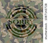sorry camo emblem   Shutterstock .eps vector #1087143728