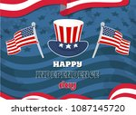 happy independence day flag ... | Shutterstock .eps vector #1087145720