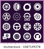 set of 16 wheel filled icons... | Shutterstock .eps vector #1087149278