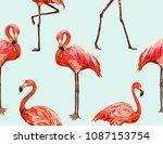 beautiful seamless vector... | Shutterstock .eps vector #1087153754