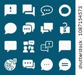 set of 16 chat filled icons... | Shutterstock .eps vector #1087154573
