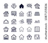set of 25 house outline icons... | Shutterstock .eps vector #1087155836