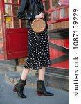 young beautiful woman wearing... | Shutterstock . vector #1087159229