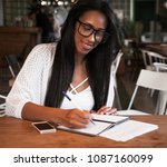 portrait of beautiful young... | Shutterstock . vector #1087160099