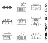 bridgework icons set. outline... | Shutterstock . vector #1087161356