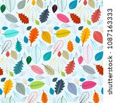 colorful leaves seamless... | Shutterstock .eps vector #1087163333