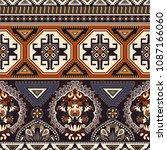 folk ornamental seamless... | Shutterstock .eps vector #1087166060