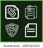 set of 4 files outline icons... | Shutterstock .eps vector #1087167614