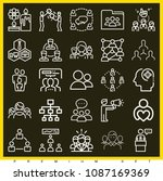 set of 25 group outline icons... | Shutterstock .eps vector #1087169369